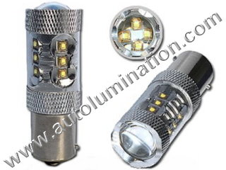 80 Watt Cree Osram 1157 (Dual Circuit) = 1016 1034 1076 1077 1130 1154 1158 1493 2057 2357 2397 7528 2F2112011 Wagner 17916 Tail Light Turn Signal Bulb