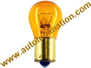 1295 Ba15s 37.5 Watt Halogen Reverse Light Xenon Natueal Amber Bulb