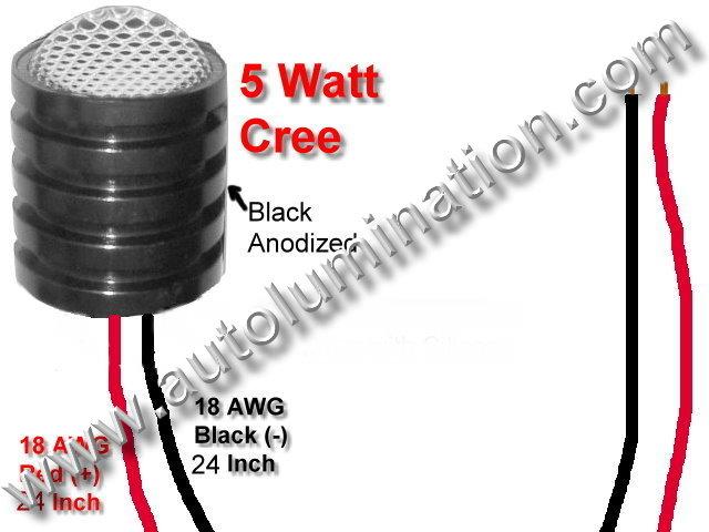 5 watt cree Led Regulated 12 volt light assembly