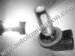 800 (Series) 862 881 886 889 894 896 898 899 H27/ W2 Angled Base 6000K Super White LED 10 Watt High Powered Headlight Bulb