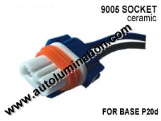 9005 P20d HB3A Headlight Ceramic Socket Pigtail Connector Harness Wiring