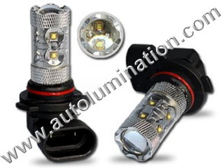 9006 P22d HB4 6000K Super White LED 50 Watt High Powered Headlight Bulb