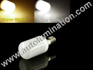 E12 LED 3.5W 48 SMD Appliance Lights Bulb Lamp DC12V-24V Replaces WR02X12208
