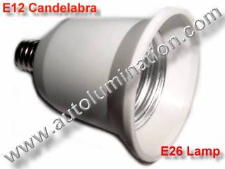 Converter Converts E12 Candelabra to E27 E26 Edison Base