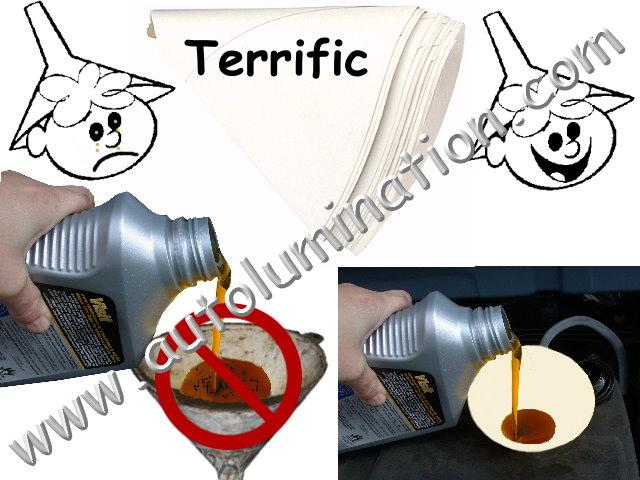 Disposable Motor Oil Funnels