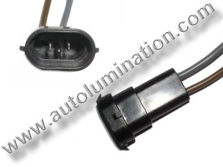 800 Series Right Angle 862 881 886 889 894 896 898 899 H27 / W2 Male Socket Pigtail Connector Wire