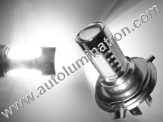 H4 9004 P43t 6000K Super White LED 12 Watt High Powered Headlight Bulb