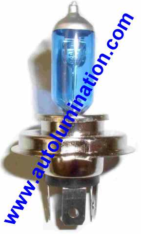 H4 9003 P43t 6000K Super White Xenon Plasma Headlight Bulb