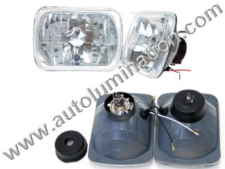 H6054 H6053 H6052 H6024 Halogen Sealed Beam Conversions Headlight