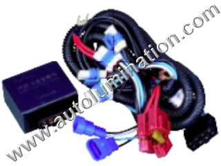 800 Series Right Angle 862 881 886 889 894 896 898 H27 / W2  Halogen Headlgiht Intensifier brightener Brighter Relay Harness