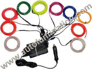 EL wire, Neon Wire DC 12V Sequential Inverter 50 Meters EL Wire