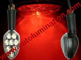 Motorcycle Led Indicator Turn Signal Running Brake Light Red