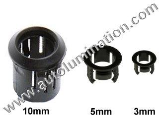 3mm 5mm 10mm Plastic Led Holder Bezel Clip Ring