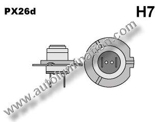 H7 PX26d Headlight Socket Plug Base