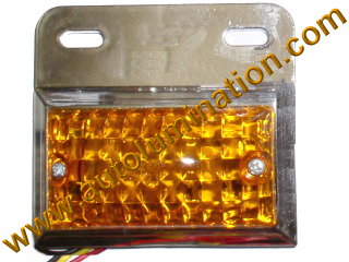 Dual Ciircuit Truck Trailer Side Marker Led Light Amber