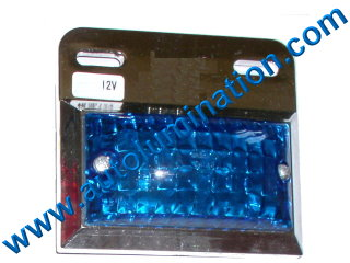 Dual Ciircuit Truck Trailer Side Marker Led Light Blue