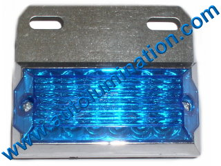 Dual Ciircuit Truck Trailer Side Marker 12 Led Light Blue