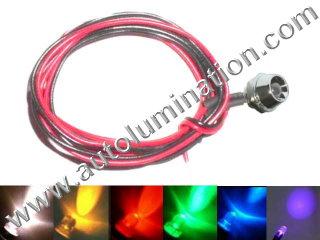 Snake Light Led 3mm Chrome Bezel