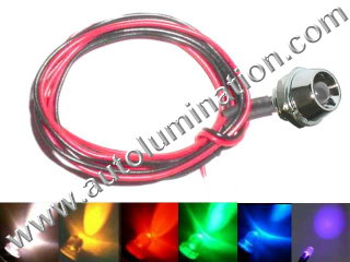 Snake Light Led 5mm Chrome Bezel