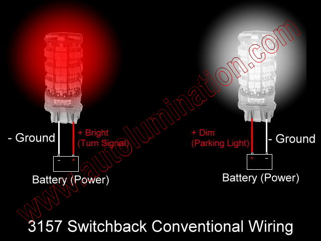 3157 red white switchback  led conventional wiring schematic