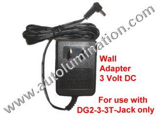 120vac to 3 Volt Wall Adapter