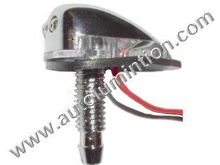 Chrome Windshield Washer with Leds Nozzle