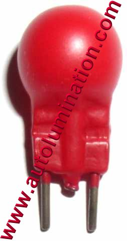 19-300 19 Red Painted glass Lionel Light bulb 2 Pin G4 G4-1/2 G3-1/2