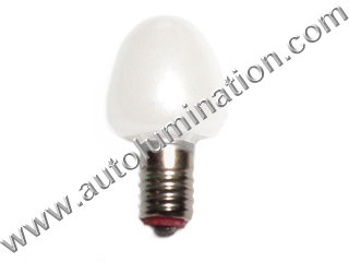 452 452w White Painted Glass 64  Lionel Street Light Bulb